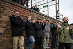 Forfar Athletic 1 Edinburgh City 2, 02/02/2017. Station Park, SPFL League 2. Home supporters applauding their team during the second-half at Station Park, Forfar during the SPFL League 2 fixture between Forfar Athletic and Edinburgh City. It was the club's sixth and final meeting of City's inaugural season since promotion from the Lowland League the previous season. City came from behind to win this match 2-1, watched by a crowd of 446. Photo by Colin McPherson.