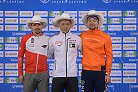 SPEEDSKATING: Calgary, The Olympic Oval, 07-02-2020, ISU World Cup Speed Skating, Podium 500m Men Division B, Artur Nogal (POL), Daichi Yamanaka (JPN), Jesper Hospes (NED), ©foto Martin de Jong