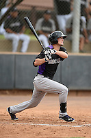 Colorado Rockies outfielder David Dahl (10) during an Instructional League game against the Arizona Diamondbacks on October 8, 2014 at Salt River Fields at Talking Stick in Scottsdale, Arizona.  (Mike Janes/Four Seam Images)