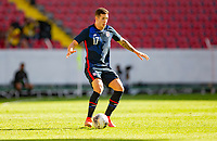 GUADALAJARA, MEXICO - MARCH 28: Aaron Herrera #17 of the United States during a game between Honduras and USMNT U-23 at Estadio Jalisco on March 28, 2021 in Guadalajara, Mexico.
