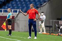SAITAMA, JAPAN - JULY 24: Vlatko Andonovski Head Coach of the USWNT directs the team during a game between New Zealand and USWNT at Saitama Stadium on July 24, 2021 in Saitama, Japan.