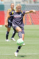 Ali Wagner #4 of the Los Angeles Sol attempts to control a loose ball against the St. Louis Athletica during their WPS game at The Home Depot Center on July 8,2009 in Carson, California.  St. Louis defeated the Los Angeles Sol 1-0.