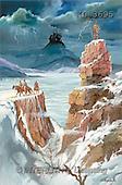 Interlitho, Luis, FANTASY, paintings, knights, castle, rocks, KL, KL3695,#fantasy# illustrations, pinturas