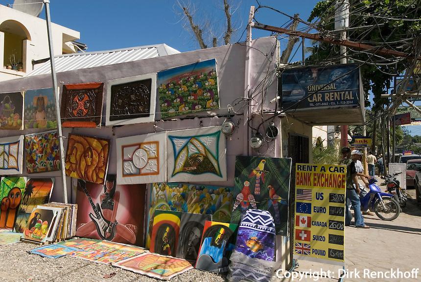 Dominikanische Republik, Naive Kunst in Cabarete im Norden