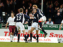 25/03/2006         Copyright Pic: James Stewart.File Name : sct_jspa06_falkirk_v_hearts.ALAN GOW CELEBRATES SCORING FALKIRK'S FIRST....Payments to :.James Stewart Photo Agency 19 Carronlea Drive, Falkirk. FK2 8DN      Vat Reg No. 607 6932 25.Office     : +44 (0)1324 570906     .Mobile   : +44 (0)7721 416997.Fax         : +44 (0)1324 570906.E-mail  :  jim@jspa.co.uk.If you require further information then contact Jim Stewart on any of the numbers above.........