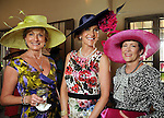 From left: Veronica Curran with Linda Hunsaker and Jana Arnoldy at the Hermann Park Conservancy Hat Party Tuesday March 9,2010. (Dave Rossman Photo)