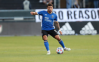 SAN JOSE, CA - MAY 15: Eric Remedi #5 of the San Jose Earthquakes moves with the ball during a game between Portland Timbers and San Jose Earthquakes at PayPal Park on May 15, 2021 in San Jose, California.