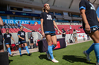 SANDY, UT - JULY 26: Kayla Sharples #28 of Chicago Red Stars enters the field during a game between Chicago Red Stars and Houston Dash during the NWSL Challenge Cup Championship held at Rio Tinto Stadium on July 26, 2020 in Sandy, Utah.
