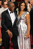 HOLLYWOOD, LOS ANGELES, CA, USA - MARCH 02: Sidney Poitier, Sydney Tamiia Poitier at the 86th Annual Academy Awards held at Dolby Theatre on March 2, 2014 in Hollywood, Los Angeles, California, United States. (Photo by Xavier Collin/Celebrity Monitor)