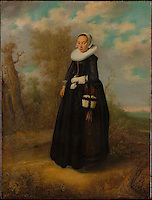 A Young Woman in a Landscape Dutch Painter, dated 1636. The Metropolitan Museum of Art, New York.