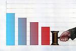 Illustrative image of bar graph representing bankruptcy