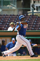 May 14 2009: Elian Herrera of the Inland Empire 66'ers during game against the Stockton Ports at Arrowhead Credit Union Park in San Bernardino,CA.  Photo by Larry Goren/Four Seam Images