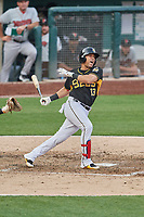 Jose Fernandez (13) of the Salt Lake Bees bats against the Nashville Sounds at Smith's Ballpark on July 28, 2018 in Salt Lake City, Utah. The Bees defeated the Sounds 11-6. (Stephen Smith/Four Seam Images)