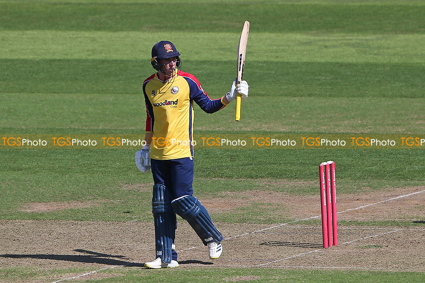 Dan Lawrence of Essex raises his bat to celebrate reaching his fifty during Hampshire Hawks vs Essex Eagles, Vitality Blast T20 Cricket at The Ageas Bowl on 16th July 2021