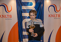 Hilversum, Netherlands, December 4, 2016, Winter Youth Circuit Masters 2 nd  place boys 14 years Stian Klaassen <br /> Photo: Tennisimages/Henk Koster