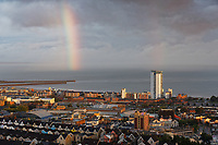 2019 09 09 A partial rainbow appears over Swansea Marina in south Wales, UK