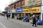 Prescot.Merseyside. Town Centre Photos March 2015.<br /> Prescot is a town and civil parish within the Metropolitan Borough of Knowsley in Merseyside, England. Historically part of Lancashire, it lies approximately eight miles to the east of Liverpool city centre