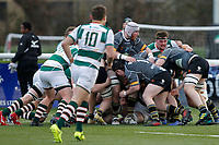 Nottingham Rugby FC try to surge forward during the Championship Cup Quarter Final match between Ealing Trailfinders and Nottingham Rugby at Castle Bar , West Ealing , England  on 2 February 2019. Photo by Carlton Myrie / PRiME Media Images.