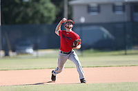 Garrett (Mac) Danford (64) of Sneads High School in Grand Ridge, Florida during the Under Armour Baseball Factory National Showcase, Florida, presented by Baseball Factory on June 13, 2018 the Joe DiMaggio Sports Complex in Clearwater, Florida.  (Nathan Ray/Four Seam Images)