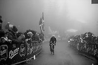 2013 Giro d'Italia.stage 14: Cervere - Bardonecchia.168km..Katusha rider in the last meters of the Bardonecchia (Jafferau / 1908m) climb
