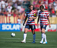 Amy LePeilbet, Christie Rampone.  The USWNT defeated Costa Rica, 8-0, during a friendly match at Sahlen's Stadium in Rochester, NY.