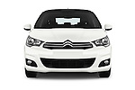 Car photography straight front view of a 2016 Citroen C4 Feel 5 Door Hatchback Front View