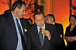 GIANCARLO GALAN, CON SILVIO BERLUSCONI <br /> COMPLEANNO GIANCARLO ROTONDI ROMA 2010