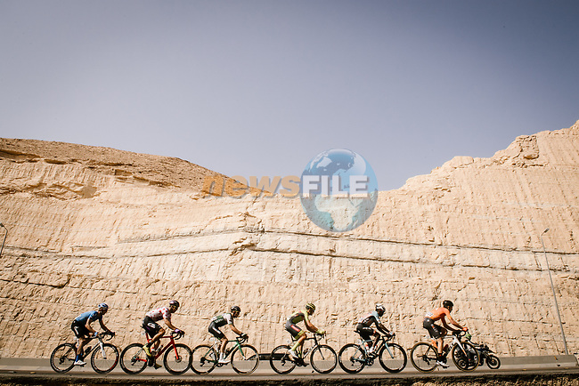 The breakaway during Stage 4 of the Saudi Tour 2020 running 137km from Wadi Namar Park to Al Muzahimiyah King Saud University, Saudi Arabia. 7th February 2020. <br /> Picture: ASO/Pauline Ballet | Cyclefile<br /> All photos usage must carry mandatory copyright credit (© Cyclefile | ASO/Pauline Ballet)