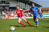 Lewie Coyle of Fleetwood Town during the Sky Bet League 1 match between Fleetwood Town and Peterborough at Highbury Stadium, Fleetwood, England on 19 April 2019. Photo by Stefan Willoughby.