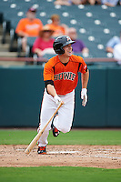 Bowie Baysox third baseman Drew Dosch (11) at bat during the first game of a doubleheader against the Akron RubberDucks on June 5, 2016 at Prince George's Stadium in Bowie, Maryland.  Bowie defeated Akron 6-0.  (Mike Janes/Four Seam Images)