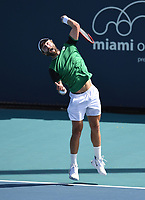 MIAMI GARDENS, FL - MARCH 25: Liam Broady Vs Miomir Kecmanovic at the 2021Miami Open at Hard Rock Stadium on March 25, 2021 in Miami Gardens, Florida. <br /> CAP/MPI04<br /> ©MPI04/Capital Pictures