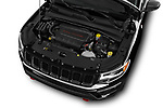 Car stock 2017 Jeep New Compass Trailhawk 5 Door SUV engine high angle detail view
