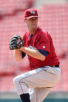 Lehigh Valley IronPigs pitcher Scott Elarton #30 delivers a pitch during a game against the Buffalo Bisons at Coca-Cola Field on April 19, 2012 in Buffalo, New York.  Lehigh Valley defeated Buffalo 8-4.  (Mike Janes/Four Seam Images)