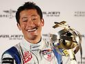 Japanese Pilot Yoshihide Muroya winner of Redbull Air Race attends press conference