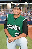 Augusta GreenJackets Sergio Romo before the South Atlantic League All-Star game at Classic Park on June 20, 2006 in Eastlake, Ohio.  (Mike Janes/Four Seam Images)