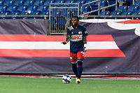 FOXBOROUGH, MA - SEPTEMBER 5: Michel #48 of New England Revolution II looks to pass during a game between Tormenta FC and New England Revolution II at Gillette Stadium on September 5, 2021 in Foxborough, Massachusetts.