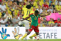Colombia's Juan Guillermo Cuadrado (l) and Cameroon's Arnaud Djoum during international friendly match. June 13,2017.(ALTERPHOTOS/Acero) (NortePhoto.com) (NortePhoto.com)