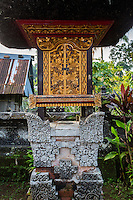 Bali, Indonesia.   Shrine to an  Ancestor inside a Hindu Balinese Village Family Compound.