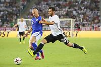 Kevin Volland (Deutschland Germany) gegen Albin Granlund (Finnland) - Deutschland vs. Finnland, Borussia Park, Mönchengladbach
