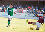 30.06.18 Linlithgow Rose v Hibs: Danny Swanson scores his second goal of the game
