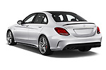 Car pictures of rear three quarter view of 2018 Mercedes Benz C-Class AMG-C63-S 4 Door Sedan Angular Rear