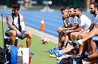 Action photo during Argentina training prior to the finals of the Copa America Centenario 2016.<br /> <br /> <br /> Foto de accion durante el Entrenamiento de la Seleccion de  Argentina previo a la gran Final de la Copa America Centenario 2016, en la foto: (i-d), Ezequiel Lavezzi, Marcos Rojo, Nicolas Otamendi, Augusto Fernandez<br /> <br /> <br /> 22/06/2016/MEXSPORT/PHOTOGAMMA/Javier Gonzalez.