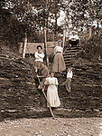 North East PA: A family photograph was taken on the Lake Erie shore.  During the early 1900s, the Stewart family vacationed on Lake Erie near North East Pennsylvania. Since hotels and motels were non-existent, camping was the only viable option for a large number of vacationers