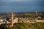 WATERBURY, CT - 12 October 2016-101216EC01--  SAVE FOR TOWER DOCUMENTARY. The Republican-American clock tower in October. View from roof of Waterbury Hospital. Erin Covey Republican-American.