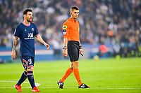 19th September 2021: Le Parc des Princes, Paris, France; French League 1 football Paris Saint Germain versus Olympique Lyonnais:  Lionel Messi PSG