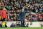FC Barcelona Head Coach Ernesto Valverde gestures during the La Liga 2017-18 match between FC Barcelona and Deportivo La Coruna at Camp Nou Stadium on 17 December 2017 in Barcelona, Spain. Photo by Vicens Gimenez / Power Sport Images