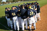 February 28, 2010:  Michigan Wolverines meet during the Big East/Big 10 Challenge at Raymond Naimoli Complex in St. Petersburg, FL.  Photo By Mike Janes/Four Seam Images