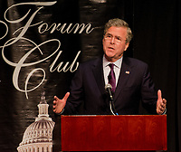 WEST PALM BEACH, FL - DECEMBER 28: Former Florida Governor at the Forum Club on December 28, 2015 in West Palm Beach, Florida<br /> <br /> <br /> People:  Former Florida Governor Jeb Bush