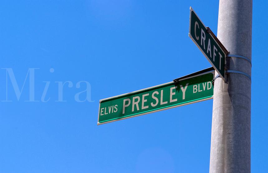 Street honoring  the King, Elvis Presley, Graceland, Memphis, Tennessee