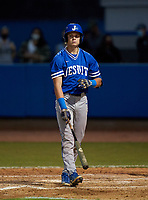 Jesuit Tigers Wes Mendes (11) bats during a game against the IMG Academy Ascenders on April 21, 2021 at IMG Academy in Bradenton, Florida.  (Mike Janes/Four Seam Images)